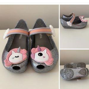 Toddler unicorn dress shoes